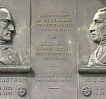 This plaque on the wall of the university library terrace reminds passers-by of Ehrenström´s and Engel´s achievement.