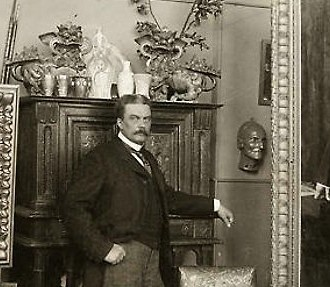 Albert Edelfelt in his studio in Paris ca. 1900.