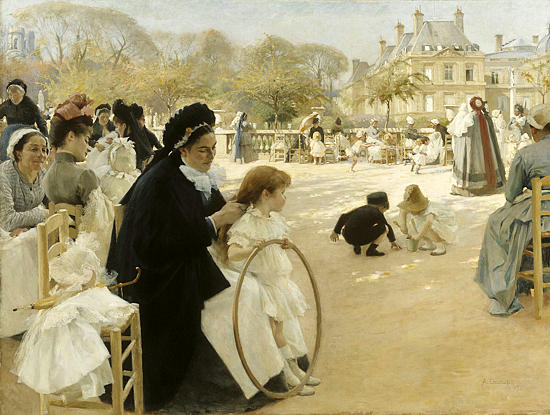The Luxembourg Gardens, Paris (1887).