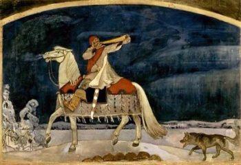 Kullervo Departs for the War, by Akseli Gallen-Kallela (1901).