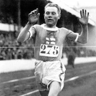 Paavo Nurmi at the Olympic Games of Antwerp in 1920.