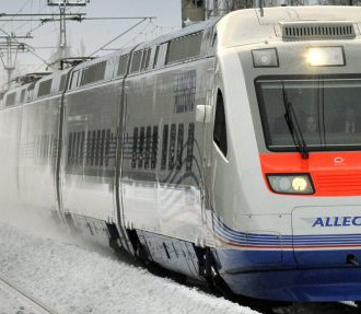 The Allegro, a new, high-speed rail link between Helsinki and Saint Petersburg, cuts travel time on the line by more than two hours.