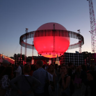 The FCP participants got to know the Finnish festival scene when they visited Flow festival.