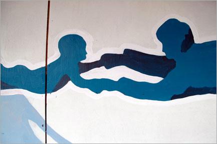 Multicoloured Dreams/Ossi Konttinen: «Свободное падение». Улица Aleksanterinkatu. Работа иллюстрирует отцовство и связанные с ним счастье и трудности.