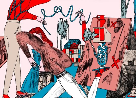 """Illustration by Jaakko Pallasvuo for Kaisa Ijäs's poem """"Daimon"""""""