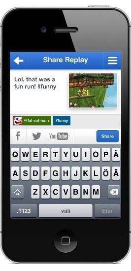 Applifier公司开发的Everyplay程序的功能之一,是让你能够在社交媒体上分享你的游戏画面。 图:Applifier