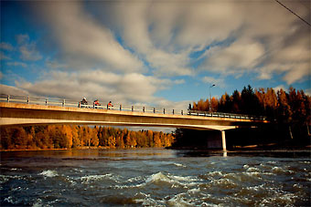 As one of the largest rivers in Southern Finland, Kymi river in Kotka is a major source of hydroelectricity.