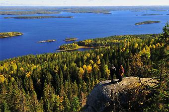 Parque nacional de Koli na Carélia do Norte, Finlândia.