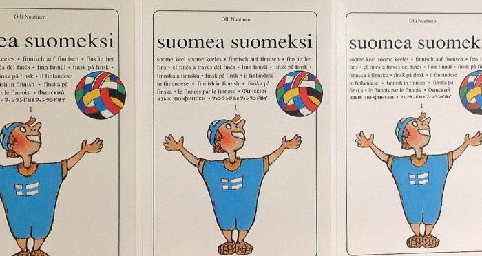 """The cover of the book """"Suomea suomeksi""""."""