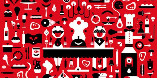 Янине Ревел из иллюстраторского агенства Agent Pekka – одна из cамых интереснейших представительниц финских художников-графиков молодого поколения. На картинке – иллюстрация по названием «Ткань хорошого настроения», созданная ею для концерна «Атриа»