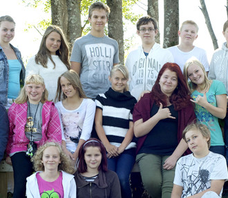 The peer mediation team at Vanttila School in Espoo, near Helsinki, includes kids from grades five to nine.