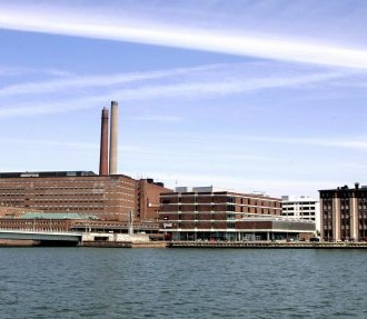 Ruoholahti business district hosts the premises of some of the biggest businesses in Finland, such as Nokia and Kemira.