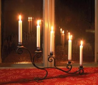 Christmas by candlelight: The Finns use candles to help create a holiday atmosphere when it's cold outside.