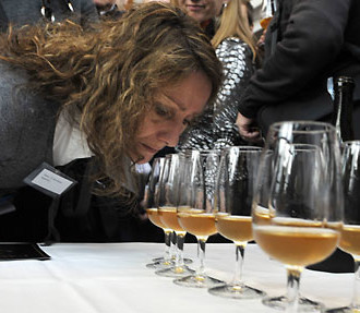 Precious aromas: Forty portions of 200-year-old champagne were served to celebrate the discovery of 168 bottles at the bottom of the ocean.