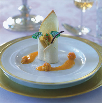 Cloudberry mousse.