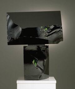 Black Brother, sculpture, dark green glass.1992.