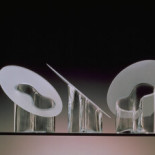 Marcel花瓶,透明和磨砂玻璃。手工吹制。1992年。芬兰Hackman Designor