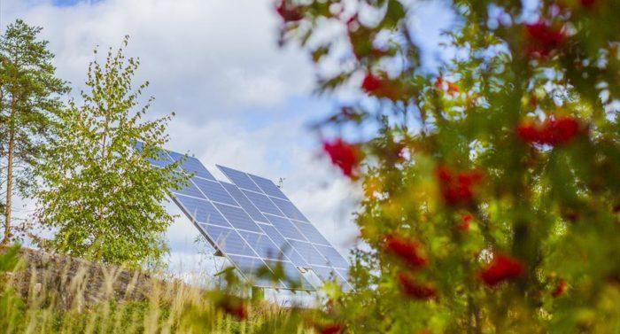 LUT十分重视可持续技术。图为校园内的一块太阳能电池板。