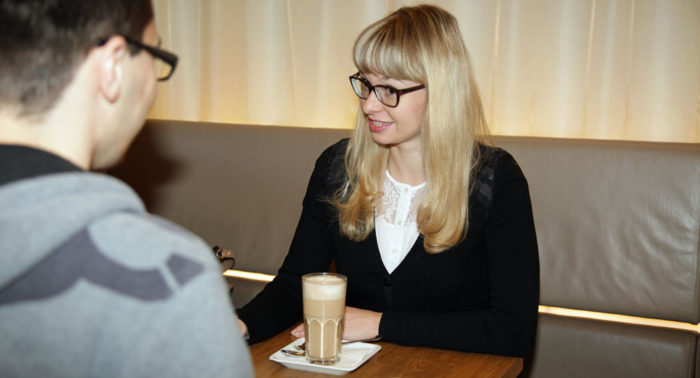 """""""Ich mag meine Arbeit wirklich sehr gerne, denn sie ist nie Routine"""", sagt Natalia Vyslovska."""
