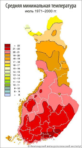 Средняя максимальная температура, июль 1971–2000 гг.