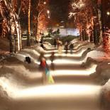 Pedestrians on this well-travelled path in Kaisaniemi Park find themselves walking through an installation by Finnish lighting designer Tülay Schakir.