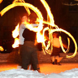 The Walkea Fire Circus ignites audiences three times each evening during Season of Light 2011.