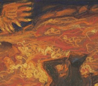 Akseli Gallen-Kallela painted Lemminkäinen at the River of Fire as part of a deal to gain funding for the Great Kalevala from Eduard Polón, director of the company that later became Nokia.