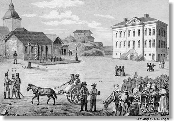 Senate Square in 1820.