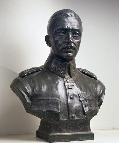 Bronze bust of Mannerheim.