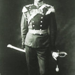 A black and white photo of Colonel Mannerheim in his parade uniform.