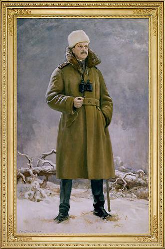 الجنرال مانرهايم في فيمينن في وسط فنلندا عام 1918.