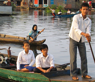 Tonle Sap Lake in Cambodia is one place where the water is crucial to the local people and their livelihoods.