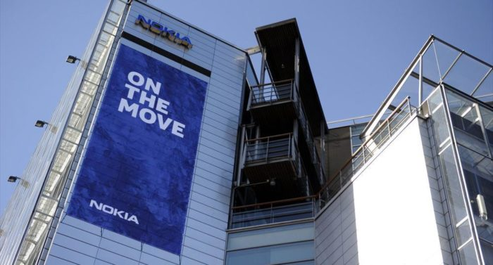 In April 2014, a banner hung on the façade of Nokia House announcing the company's move. Before the end of the month, Nokia's logo was replaced with that of Microsoft.
