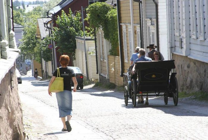 The Finnish place-name of Porvoo, a charming town less than an hour from Helsinki, comes from a corruption of the Swedish-language name Borgå.