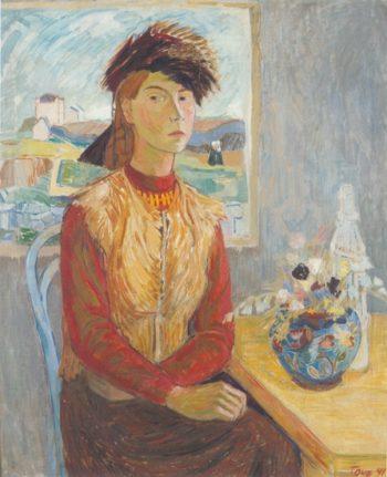 Автопортрет в меховой шапке (1941): Туве Янссон сделала карьеру в разных областях: в качестве художника и иллюстратора, а также автора книг для детей и взрослых.