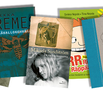 Excerpts from Finland's burgeoning literary scene: Puhdistus (Purge) by Sofi Oksanen, Pääkallokehrääjä (Death's-head Moth) by Ilkka Remes, De vackra kusinerna (The Beautiful Cousins) by Mikaela Sundström, Risto Räppääjä (Ricky Rapper) by Sinikka and Tiina Nopola, and Lokikirja (Logbook) by Pirkko Saisio.