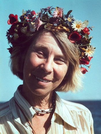 Tove Jansson in a summer incarnation, as photographed by her brother Per Olov.