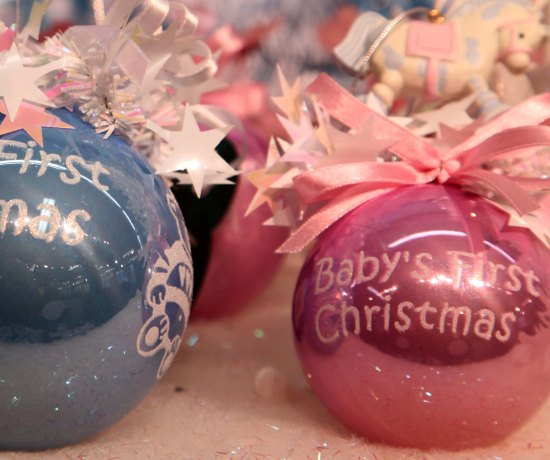 Baby's First Christmas: These are some of Weiste's most popular baubles.