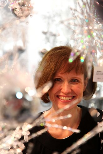 The sparkle of a Christmas showroom: Helena Friman is already planning next year's Weiste catalogue.