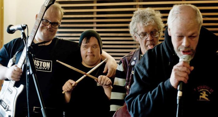 Pertti Kurikan Nimipäivät (PKN), a punk band whose members all have learning disabilities or other disabilities, won the honour of representing Finland at the 2015 Eurovision Song Contest.