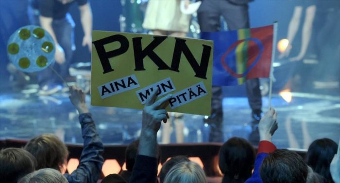 Even the Finnish Parliament seems to hear the reverberations of PKN's win in the Finnish Eurovision qualifying contest.