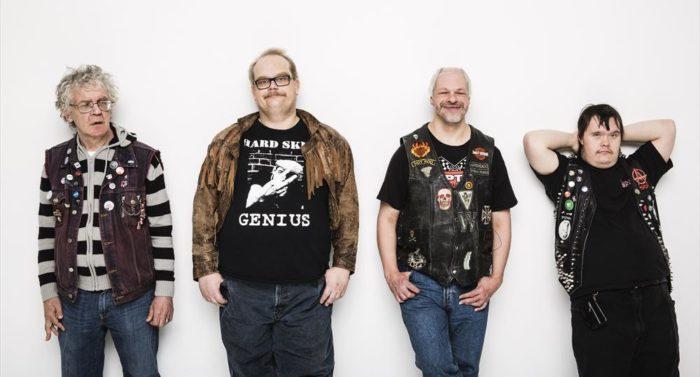 Os emissários do Eurovision: PKN conta com Pertti Kurikka (guitarra, à esquerda), Sami Helle (baixo), Kari Aalto (vocais) e Toni Välitalo (bateria).