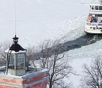 Suomenlinna, ferry, winter, Helsinki, Finland, Silja Line, Viking Line