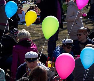 五一节,5月1日,4月30日,Vappu,香槟,野餐,派对,赫尔辛基,芬兰