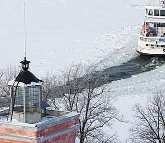 Suomenlinna, ferry, hiver, Helsinki, Finlande, ligne Silja, ligne Viking