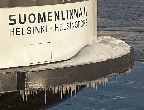 Un tunnel de service existe entre le Suomenlinna et la terre ferme, mais la seule option ouverte au public est le ferry. Photo: Tim Bird