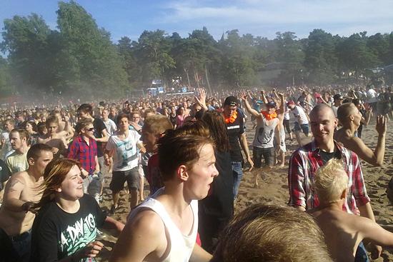 Rock The Beach festival in Helsinki Photo by Stefanie Haas