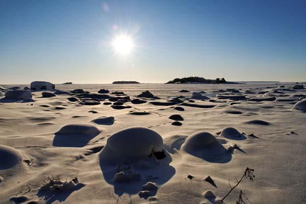 Mañana de sol en Santalahti, un golfo situado, no en Helsinki, sino más al este, en Kotka. Foto: Niklas Sjöblom/taivasalla.net