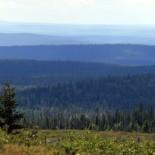 Синие холмы Инари. На этом снимке, сделанном в Инари у самой северной оконечности Финляндии, можно разглядеть 12 уровней холмов.