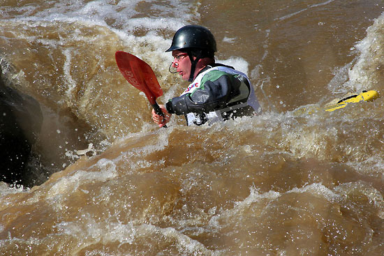 Canoe contests are held on the Vantaa River when the rapids are at their liveliest. Photo: Tim Bird